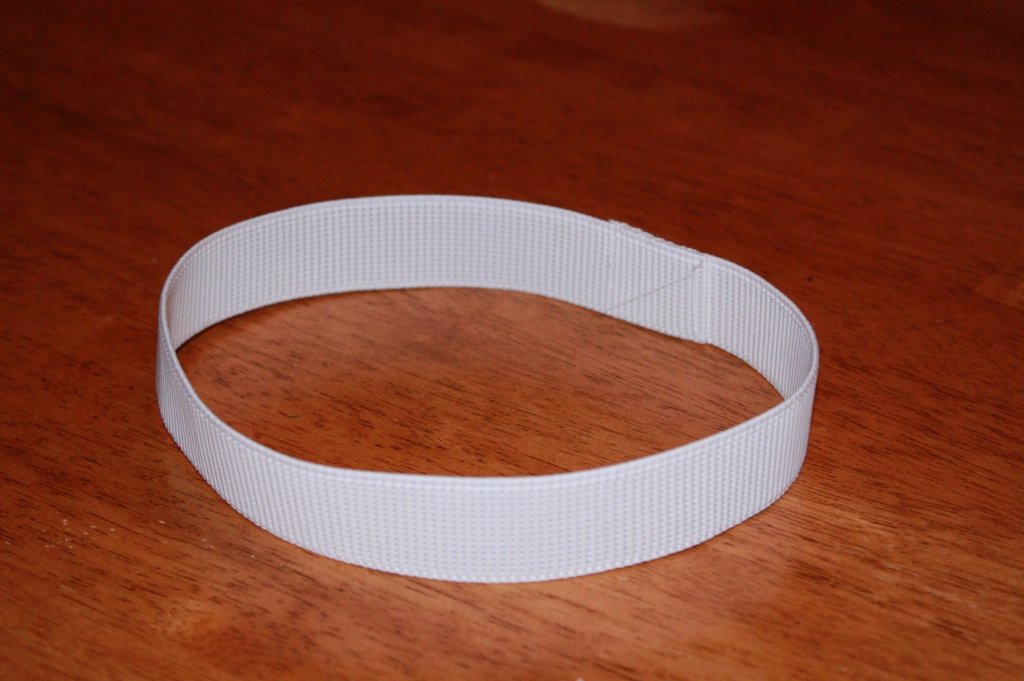 """1.25"""" non roll elastic hand sewing into a circle to use as waistband of tutu"""