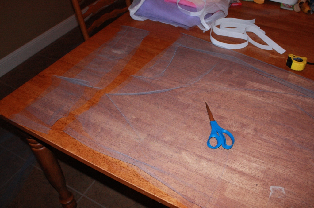 Cutting Tulle Yardage into strips