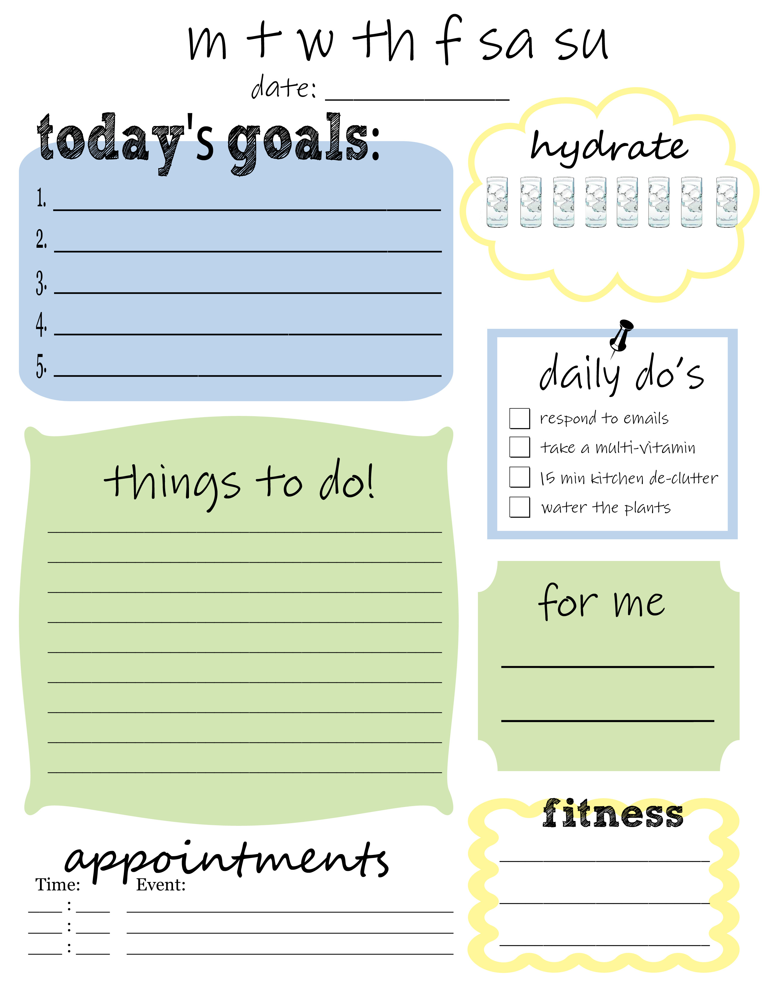 things to do today list template
